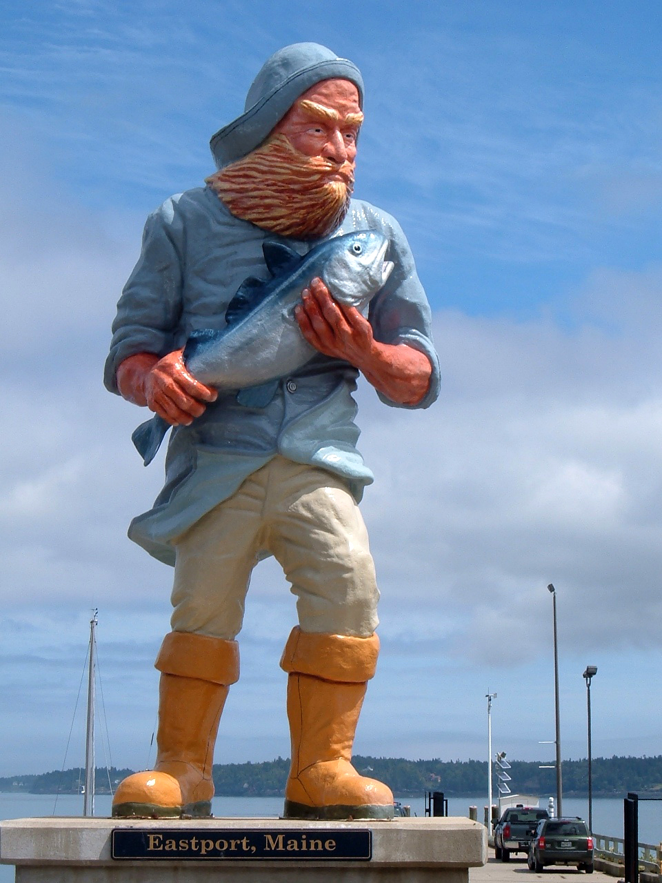 Fisherman Statue in Eastport, Maine: Focus of Restoration Efforts